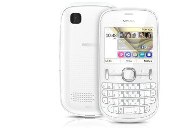 Nokia Asha 201 u beloj boji