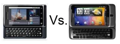 Motorola Milestone 2 vs HTC Desire Z (za uporedni prikaz kliknuti na sliku)