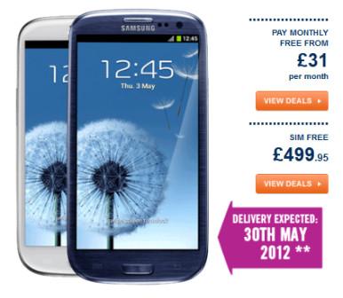Samsung Galaxy S3 koštaće oko 600 evra