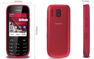 Nokia Asha 203 ima dimenzije od 114,8 x 49,8 x 13,9 mm