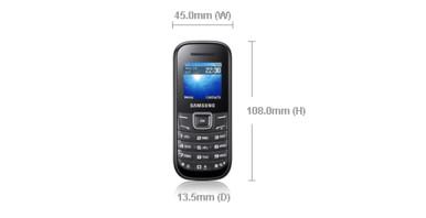 Samsung E1200M Keystone 2 ima skromne dimenzije i težinu od svega 65 grama