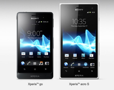 Sony Xperia Go u potpunosti pripada Xperia izgledu