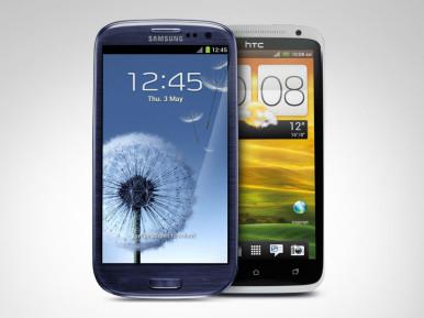 Samsung Galaxy S3 vs HTC One X (kliknite za uporedni prikaz)