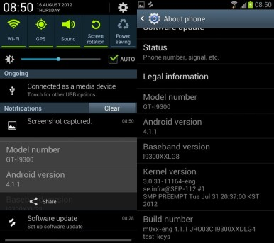Android 4.1 Jelly Bean je već dostupan za neke novije modele poput Samsunga Galaxy S3