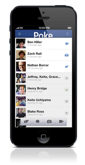 Facebook Poke je namenjen iOS platformi
