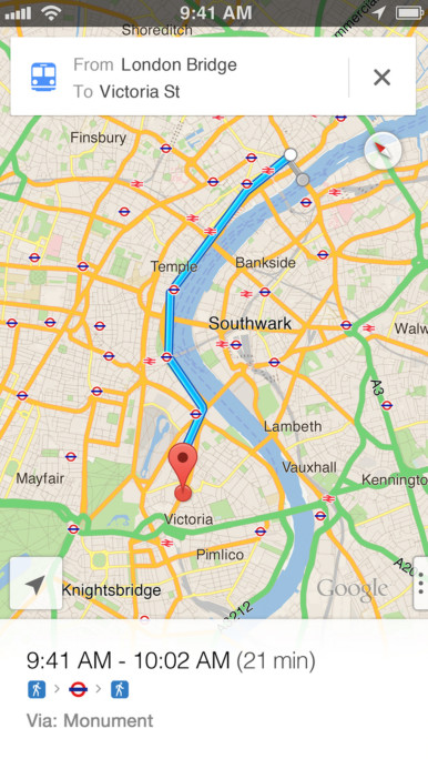 gogle maps for ios