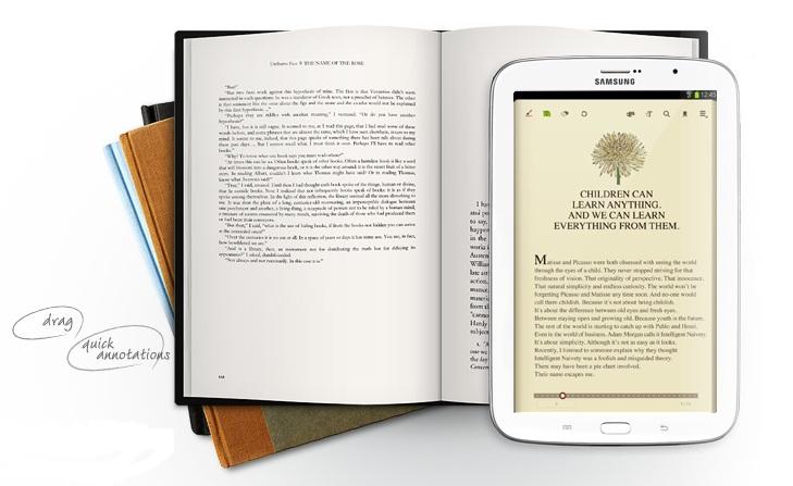 Samsung Galaxy Note 8.0 e-book reader