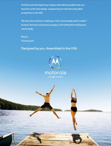 moto x reklama