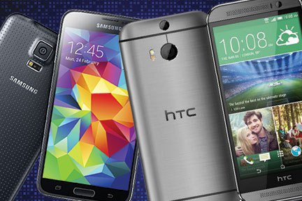 Samsung Galaxy S5 vs HTC One M8 2