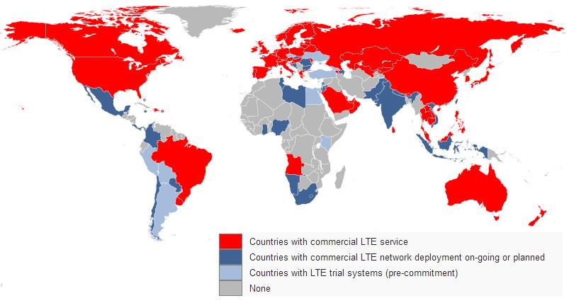 Primena 4G tehnologije u svetu