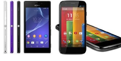 Sony Xperia M2 vs Motorola Moto G 2