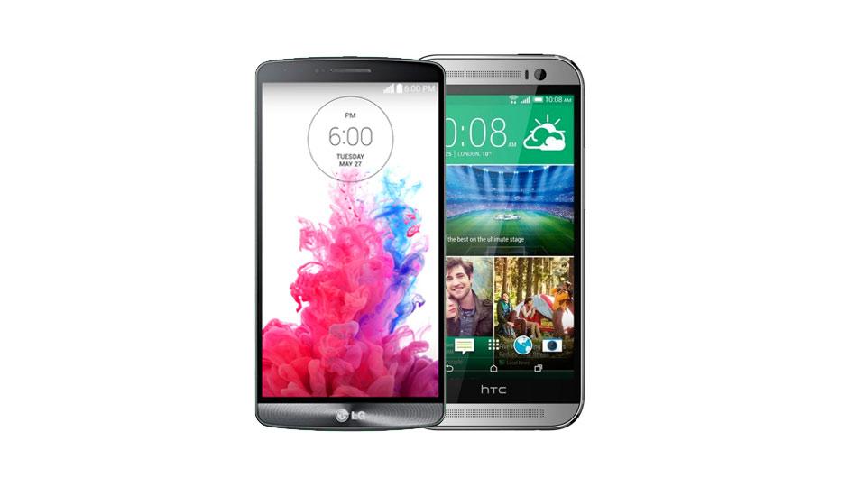 LG G3 vs HTC One M8 1